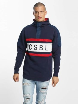Cayler & Sons Bluzy z kapturem CSBL Good Day Half Zip niebieski