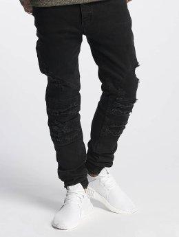 Cayler & Sons Slim Fit Jeans ALLDD Paneled Inverted Biker èierna