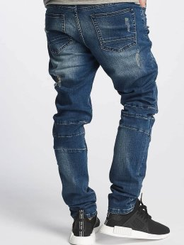 Cayler & Sons Slim Fit Jeans ALLDD Paneled Denim blau