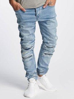 Cayler & Sons Slim Fit Jeans ALLDD Paneled Inverted Biker modrý