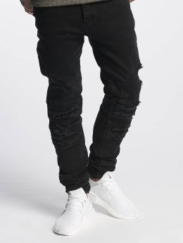 Cayler & Sons Slim Fit Jeans ALLDD Paneled Inverted Biker nero