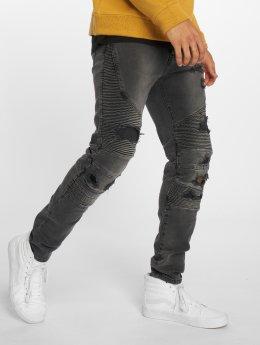 Cayler & Sons Straight Fit Jeans Alldd Broken Biker Ian čern