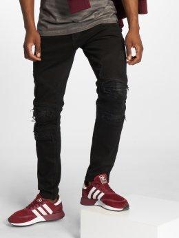 Cayler & Sons Straight Fit Jeans Alldd Paneled Inverted čern