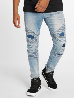 Cayler & Sons Straight fit jeans Alldd Broken Biker Ian blauw