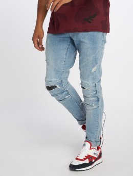 Cayler & Sons Straight Fit Jeans Alldd Paneled Inverted Ian modrý