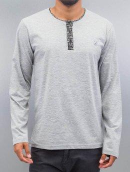 Cazzy Clang Camiseta de manga larga Button Tape gris
