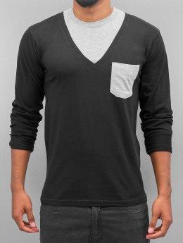 Cazzy Clang Camiseta de manga larga Breast Pocket negro