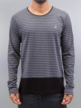 Cazzy Clang Maglietta a manica lunga Stripes grigio