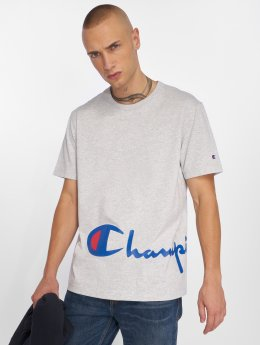 Champion Футболка Big Logo серый