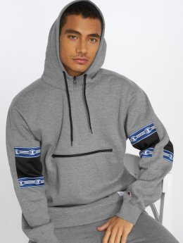 Champion Athletics Bluzy z kapturem Half Zip szary
