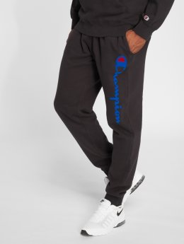 Champion Athletics Jogging Logo Rib Cuff noir