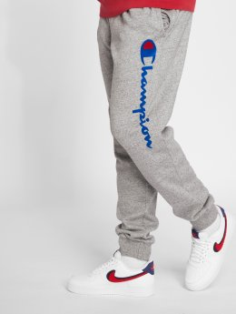 Champion Athletics Jogginghose Logo Rib Cuff grau