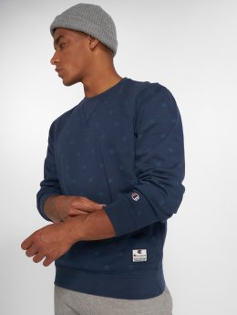 Champion Athletics Pullover Logo blau