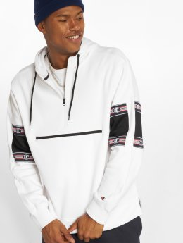 Champion Athletics Sweat capuche Half Zip blanc