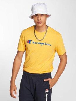 Champion Athletics T-skjorter Crew Neck gul
