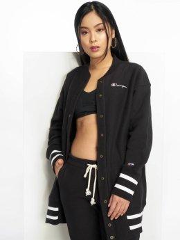 Champion Frauen College Jacke Maxi in schwarz