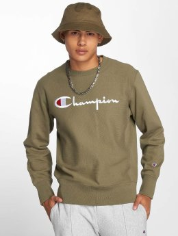 Champion Jumper Logo  olive