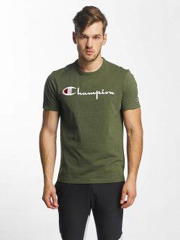 Champion t-shirt Cotton Graphic olijfgroen