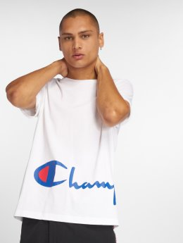 Champion T-Shirty Big Logo bialy