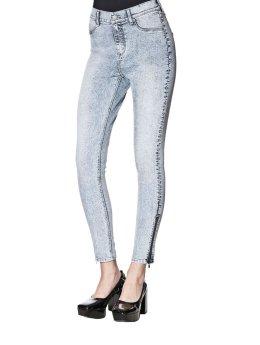 Cheap Monday Skinny Jeans Tight Zine niebieski
