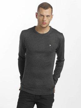 Cipo & Baxx Pullover Basic grau