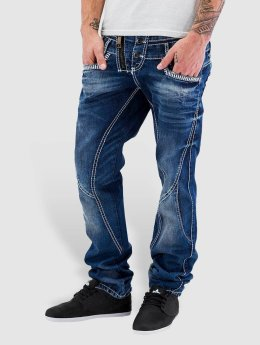 Cipo & Baxx Straight Fit Jeans Triple Collar blau