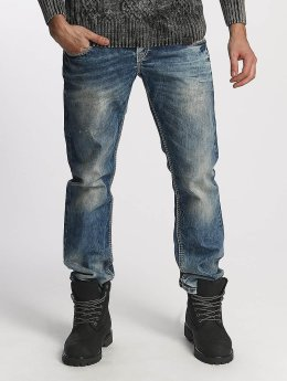Cipo & Baxx Used Straight Fit Jeans Blue