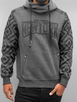 Cipo & Baxx Sweat capuche New York gris