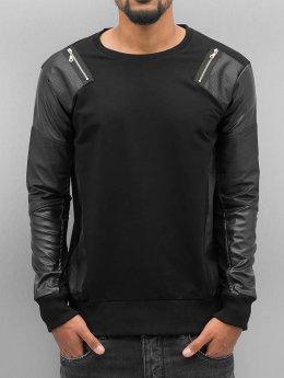 Cipo & Baxx trui Fake Leather zwart