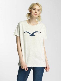 Cleptomanicx Möwe Basic T-Shirt Heather Creme/Dark Navy