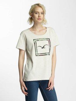 Cleptomanicx T-Shirt Floral Box beige