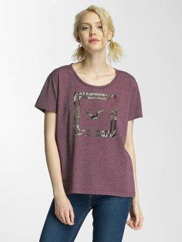 Cleptomanicx Floral Box T-Shirt Heather Dark Berry