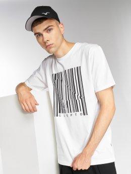 Cleptomanicx T-Shirt Barcode Gull weiß