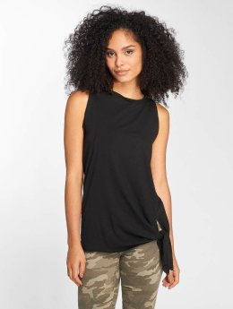 Cleptomanicx Tank Tops Knotted schwarz