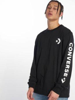 Converse Camiseta de manga larga Star Chevron Wordmark negro
