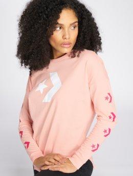 Converse Maglietta a manica lunga Star Chevron rosa chiaro