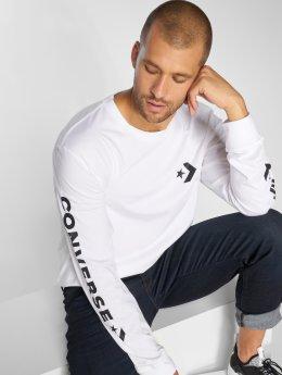 Converse Pitkähihaiset paidat Chevron Wordmark valkoinen