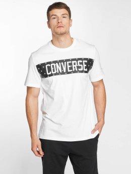 Converse T-Shirt Star Block blanc