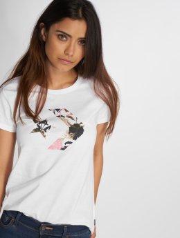 Converse T-Shirt Linear Floral Star blanc