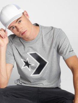 Converse T-Shirt Outlined Star Chevron grau