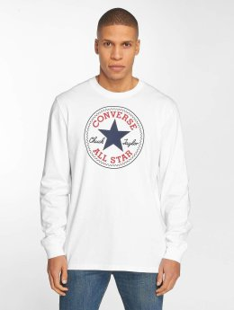 Converse T-Shirt manches longues Chuck Patch blanc