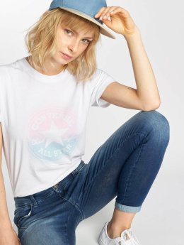 Converse t-shirt Ombre wit