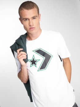 Converse T-shirts Outlined Star Chevron hvid