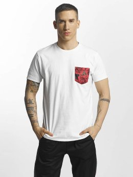 Criminal Damage Vale Pocket T-Shirt White/Multi