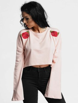 Criminal Damage Elm Crop Longsleeve Pink/Multi