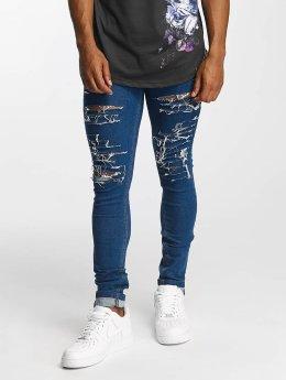Criminal Damage Skinny Jeans Camden blau