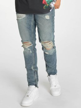 Criminal Damage Skinny Jeans Carter blau