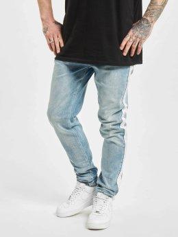 Criminal Damage Skinny Jeans Tape modrý