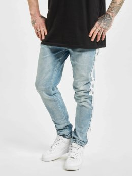 Criminal Damage Skinny Jeans Tape niebieski