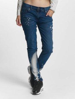 Criminal Damage Straight Fit Jeans Lapis  blå